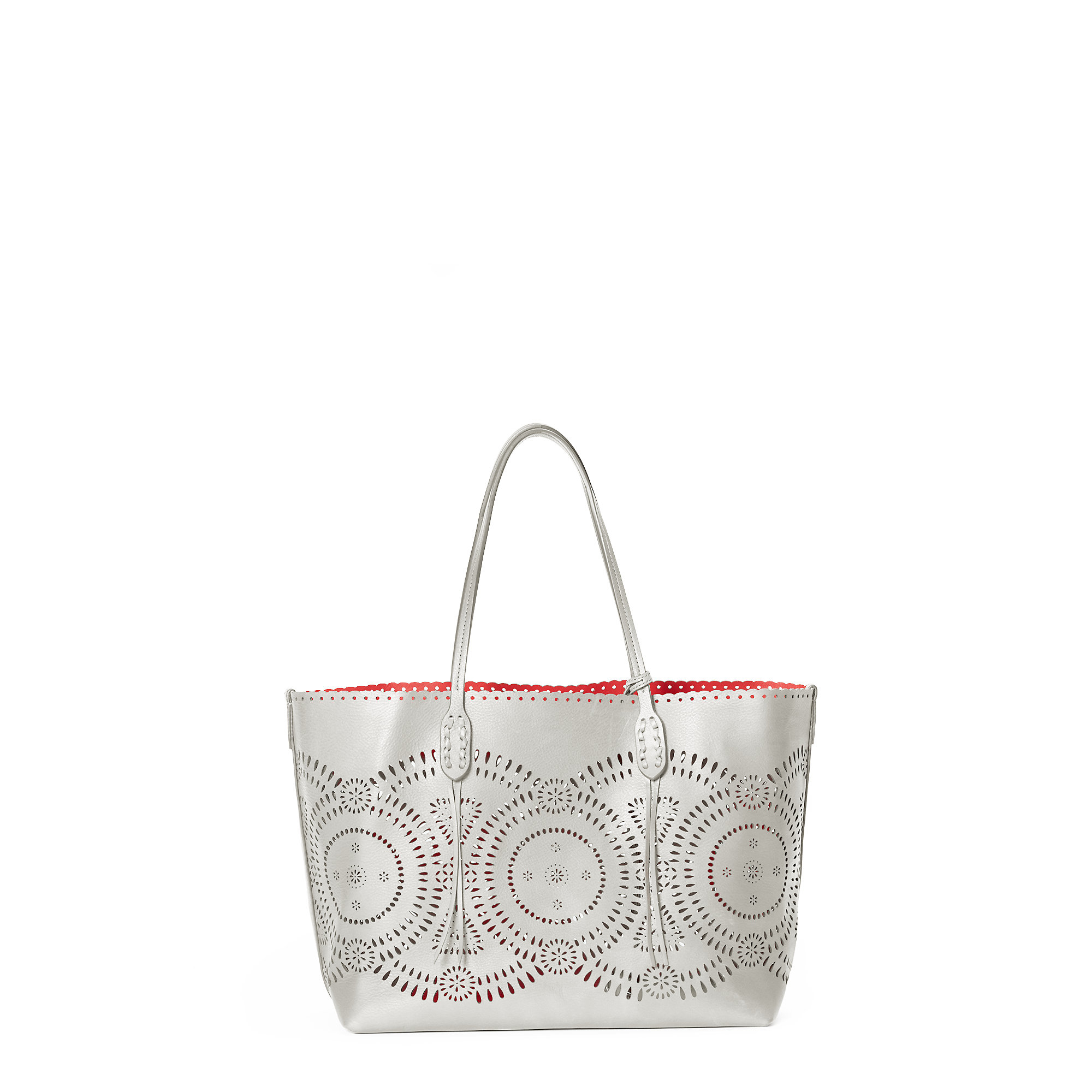 611ce7a9149e ... netherlands lyst polo ralph lauren laser cut leather tote ad836 e9650