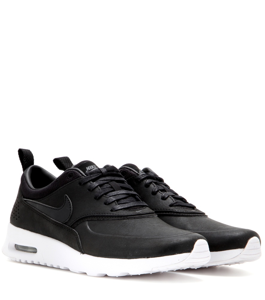 nike air max thea jolie leather sneakers in black lyst. Black Bedroom Furniture Sets. Home Design Ideas