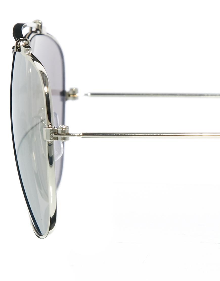 Aviator Sunglasses Without Nose  asos navigator sunglasses without nose bridge in metallic for men