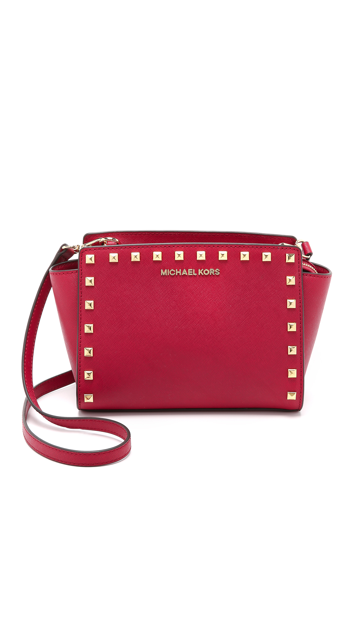 c21db2ae3859 ... discount code for michael michael kors selma stud medium messenger bag  cherry in red 2a9dd 92c41
