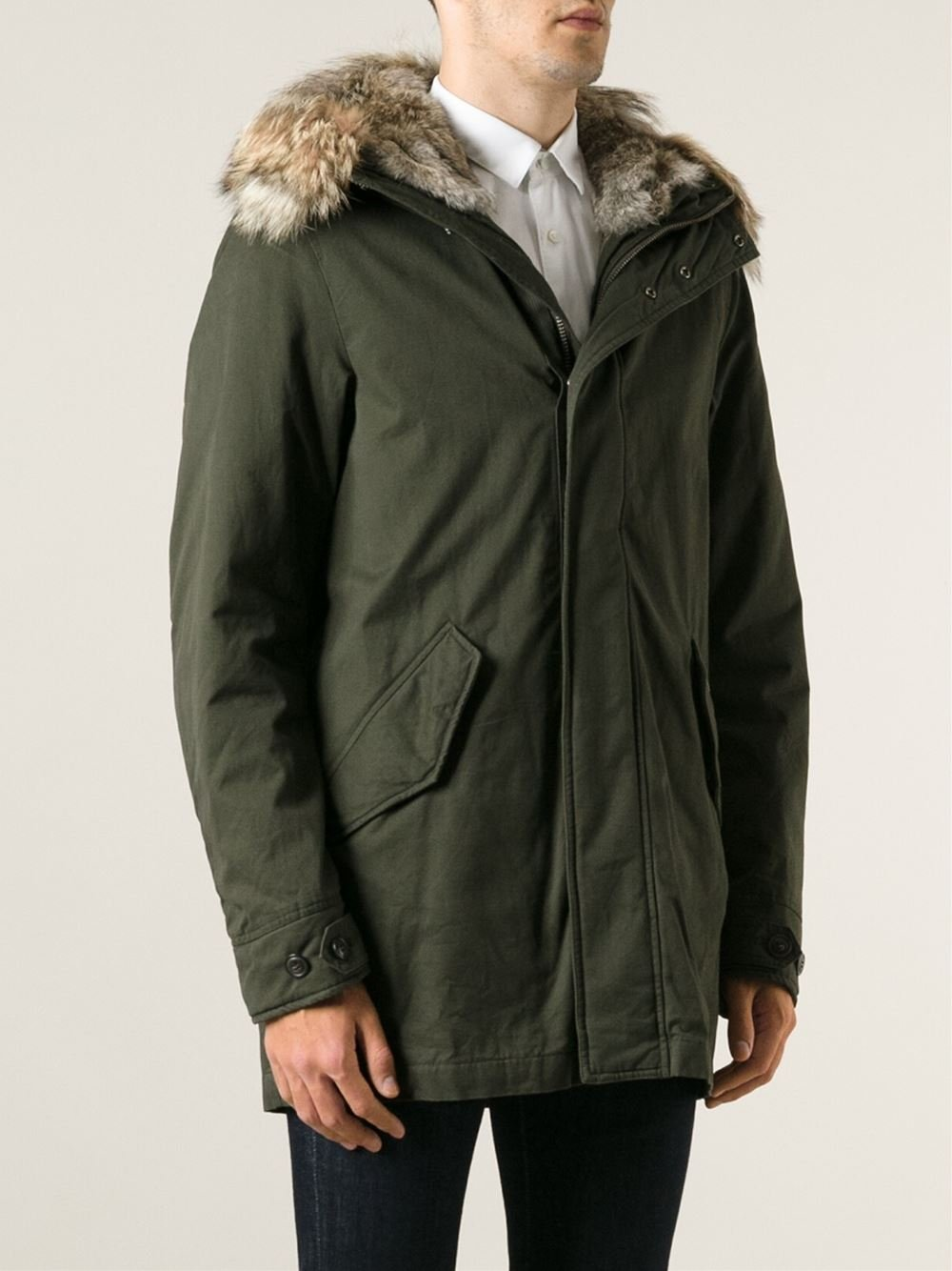 woolrich 39 eskimo 39 parka in green for men lyst. Black Bedroom Furniture Sets. Home Design Ideas