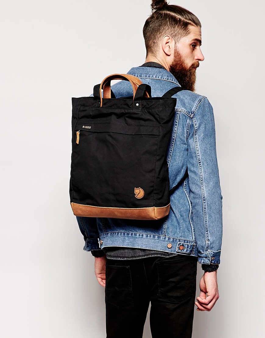 Fjallraven No 2 Tote Bag In Black For Men Lyst