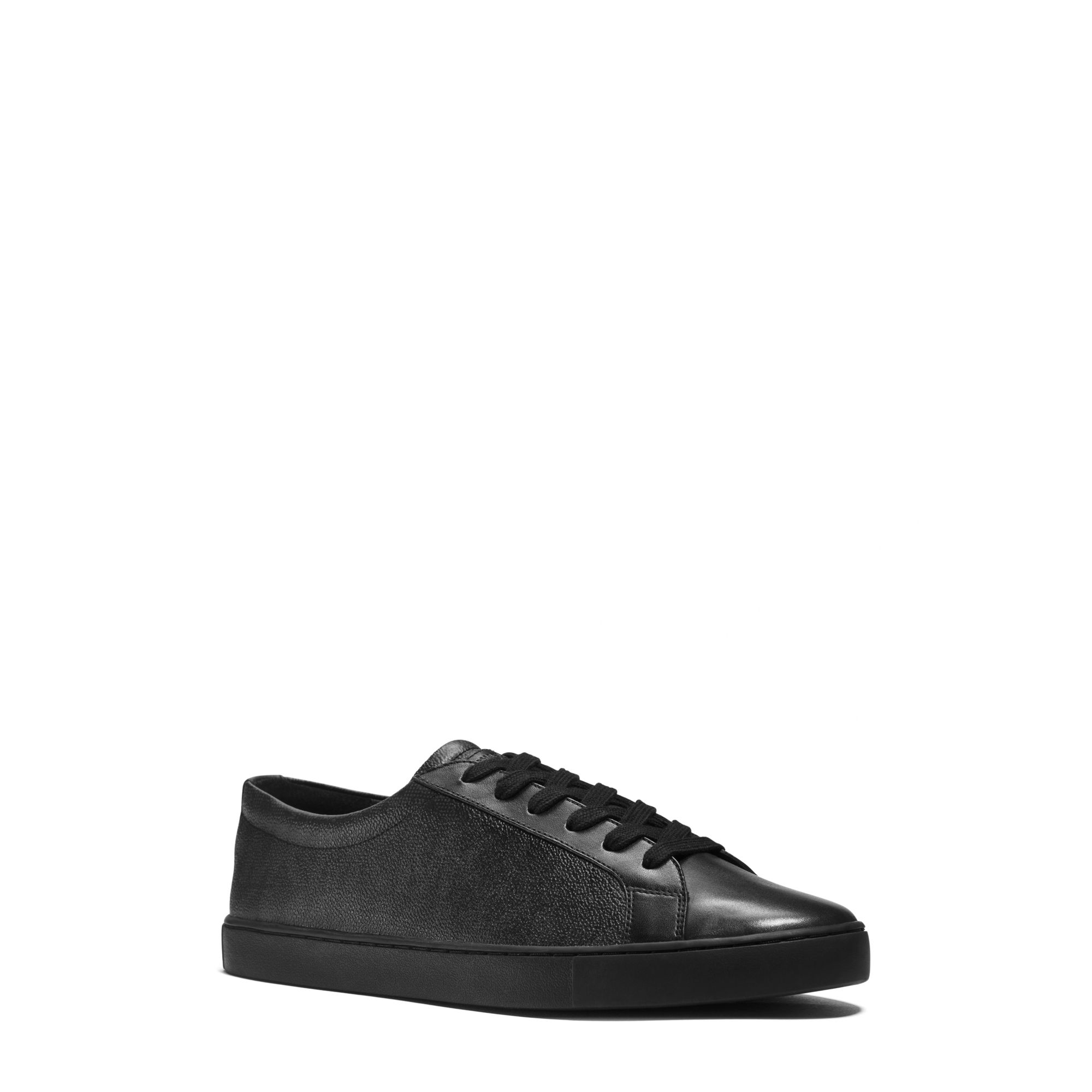 michael kors jake logo sneaker in black for men lyst. Black Bedroom Furniture Sets. Home Design Ideas