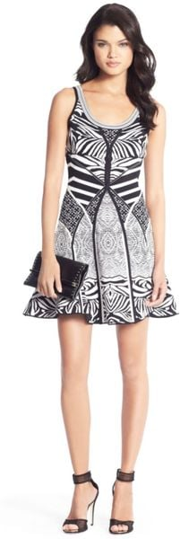 Dvf Perry Structured Flare Dress Diane Von Furstenberg Fanny