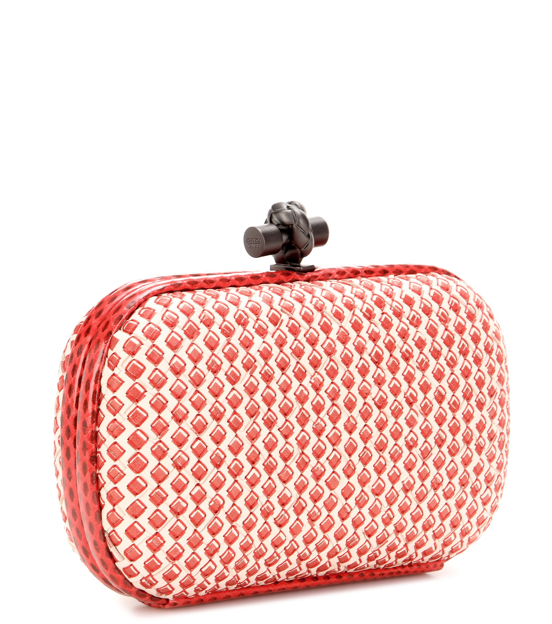 a88fe0f431 bottega veneta stretch knot intrecciato satin and snakeskin box ...