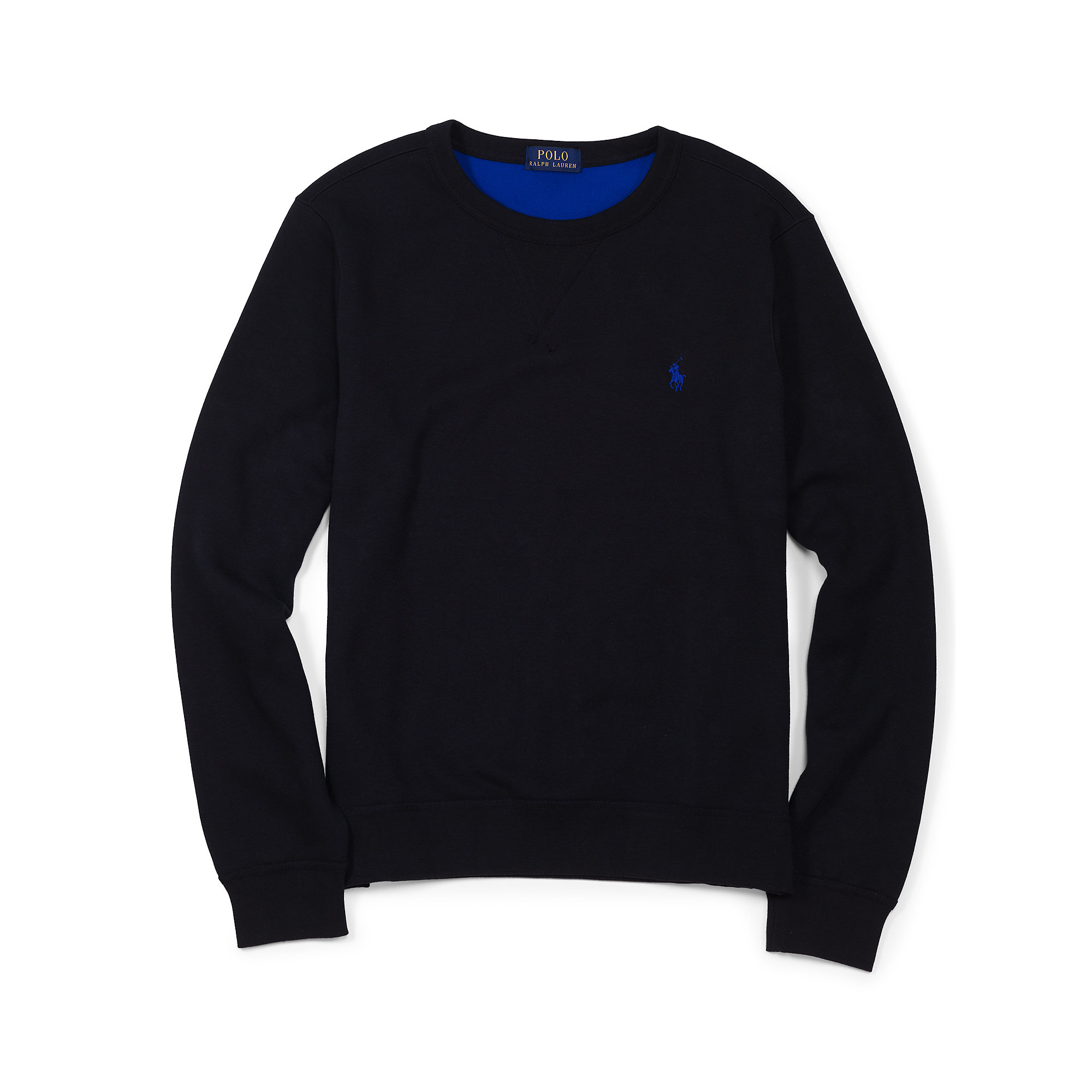 Polo ralph lauren Fleece Crewneck Sweatshirt in Black for Men | Lyst