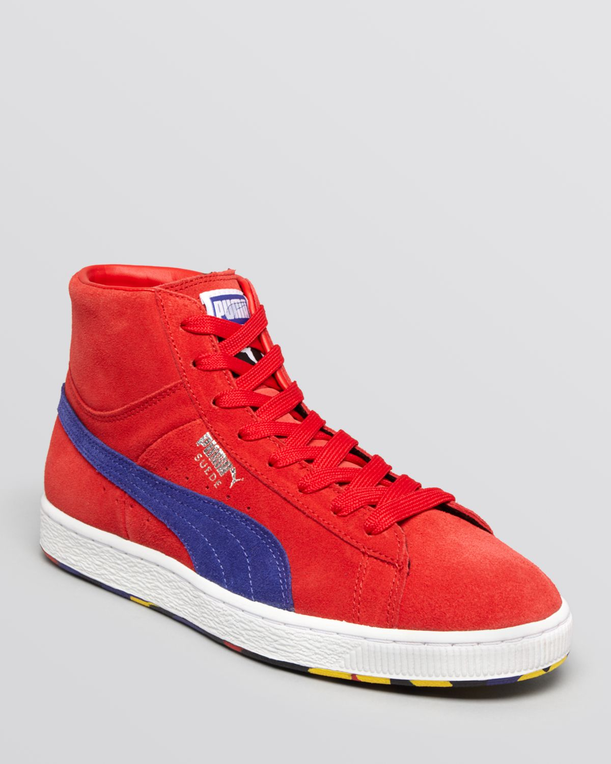 b4311cd5a9f5 Lyst - PUMA Suede Classic Rubber Mix Mid Sneakers in Red for Men