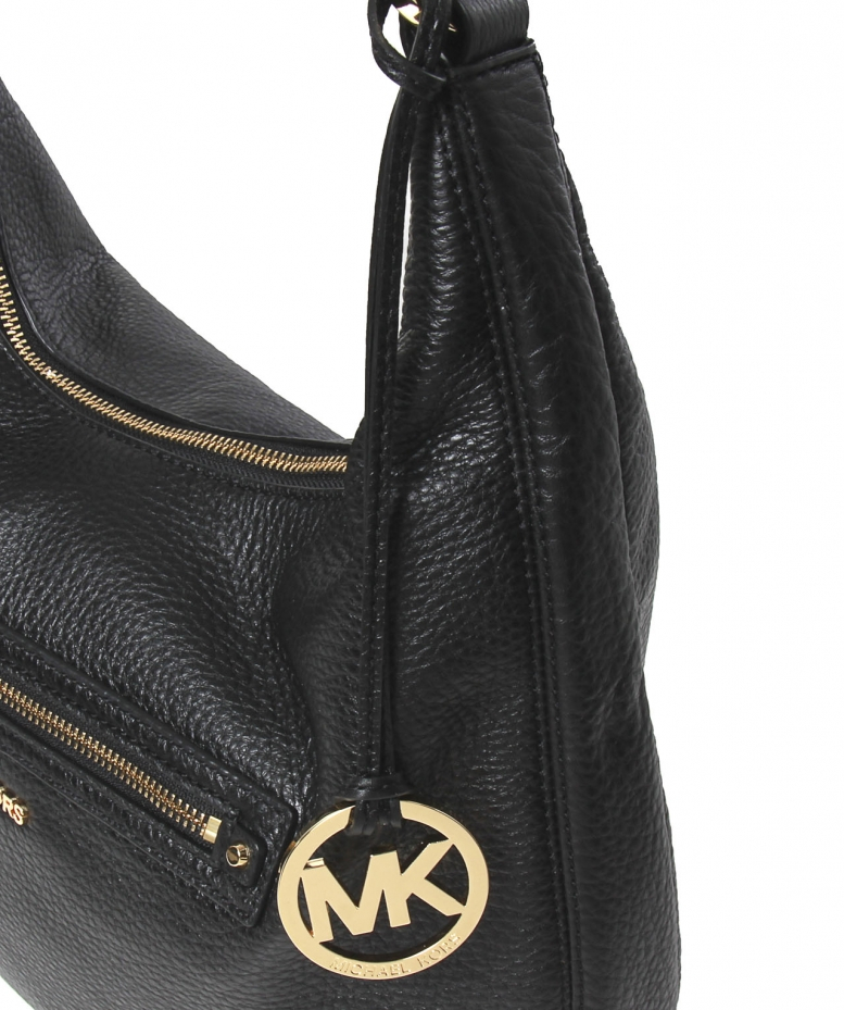 616d85a592da MICHAEL Michael Kors Rhea Large Zip Shoulder Bag in Black - Lyst