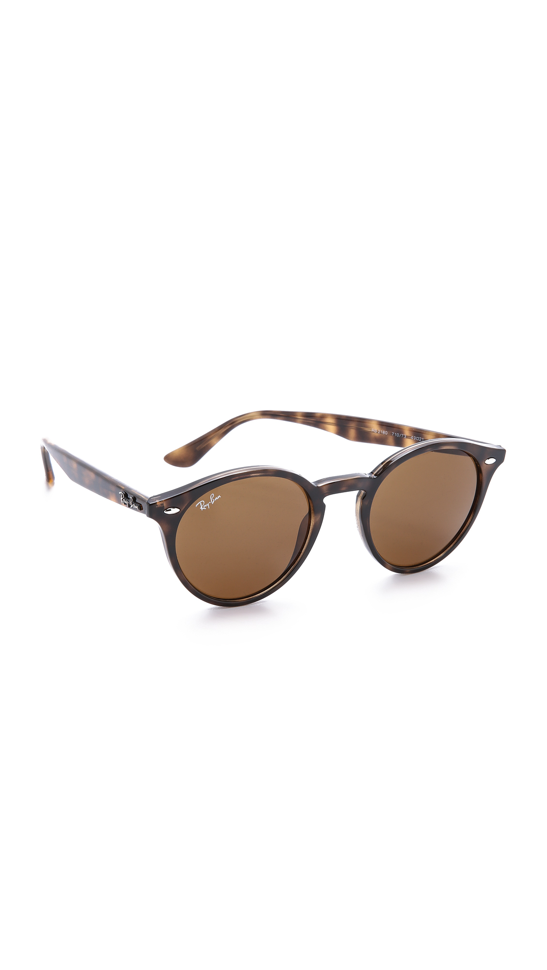 Ray-Ban Highstreet Round Sunglasses - Havana Darkbrown -3528