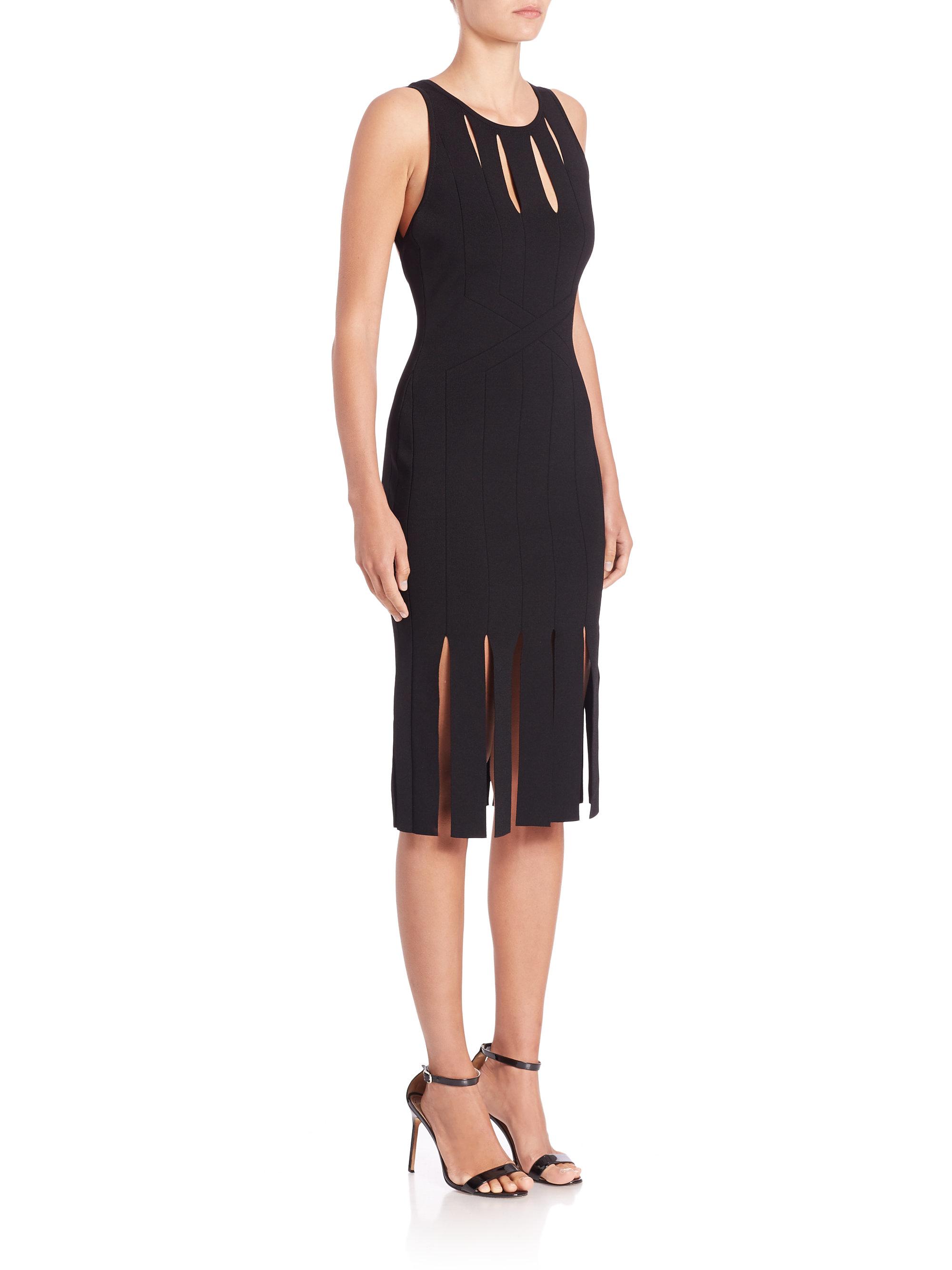 Lyst Cushnie Et Ochs Carwash Hem Dress In Black