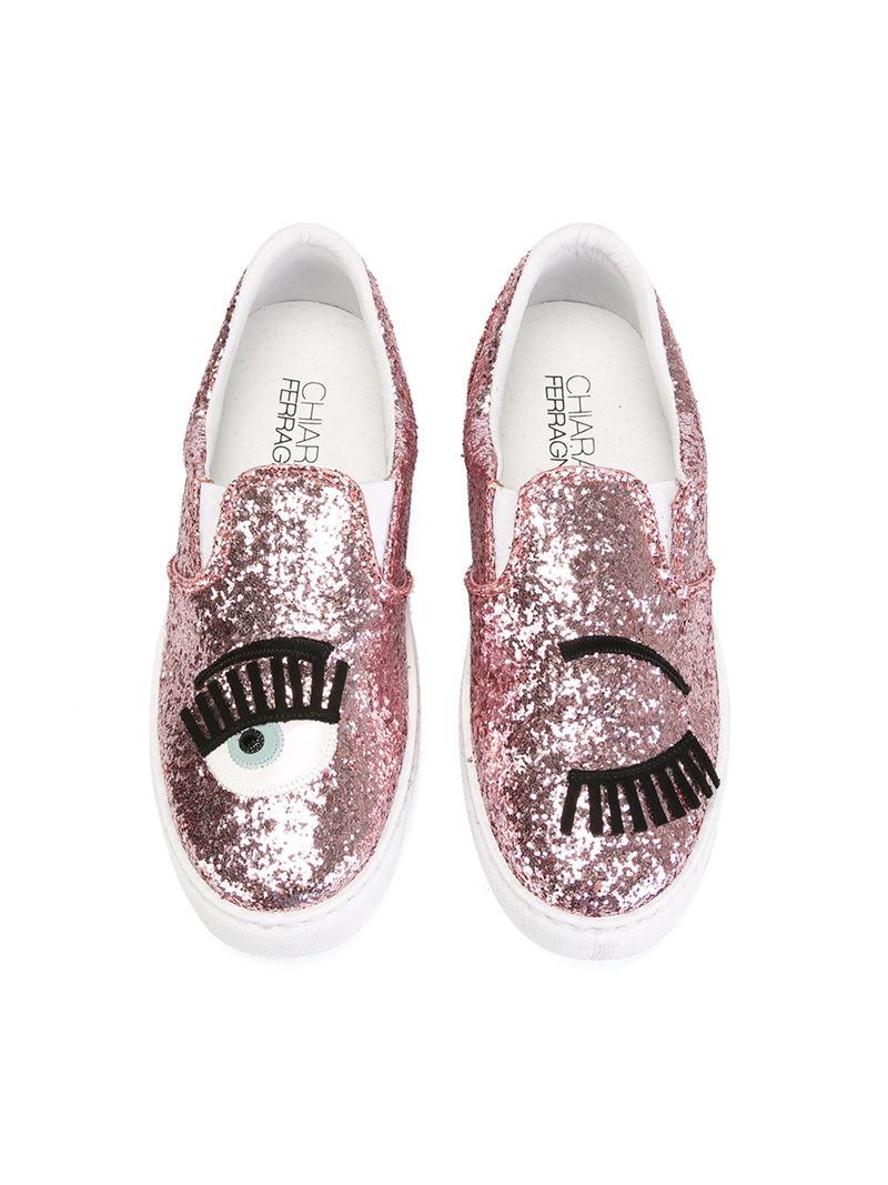 Chiara Ferragni Pink Slip-On Sneaker