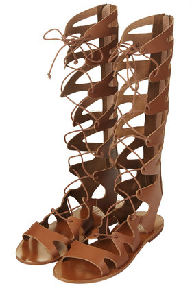 cc89e891ef6a Lyst - TOPSHOP Figtree Gladiator Sandals in Brown