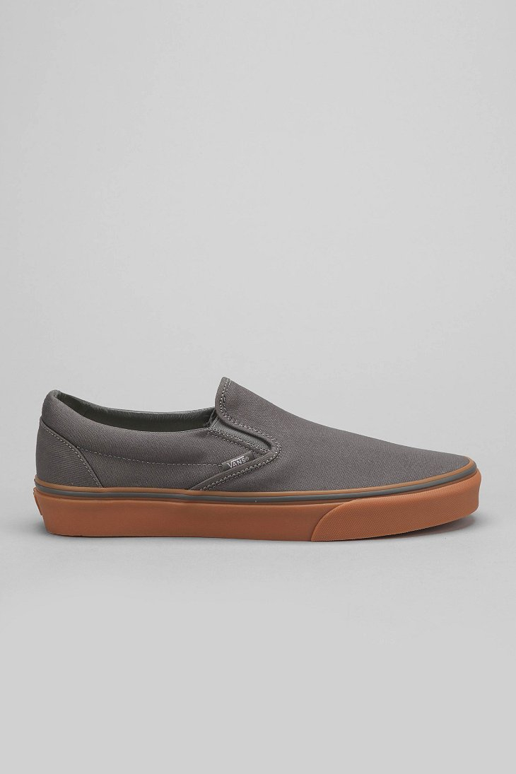 b83031740f1 Lyst - Vans Classic Gum-Sole Slip-On Sneaker in Gray for Men