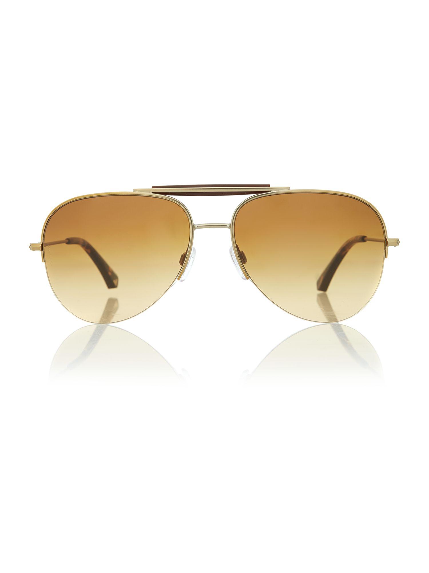 Armani Gold Frame Sunglasses : Emporio Armani Matte Aviator Sunglasses in Gold for Men Lyst