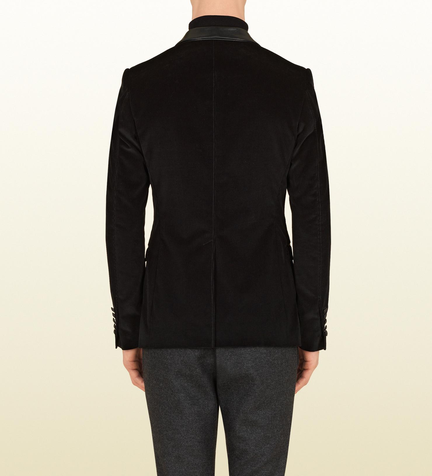 686ac97e0 Gucci Black Corduroy Dylan 60's Jacket in Black for Men - Lyst