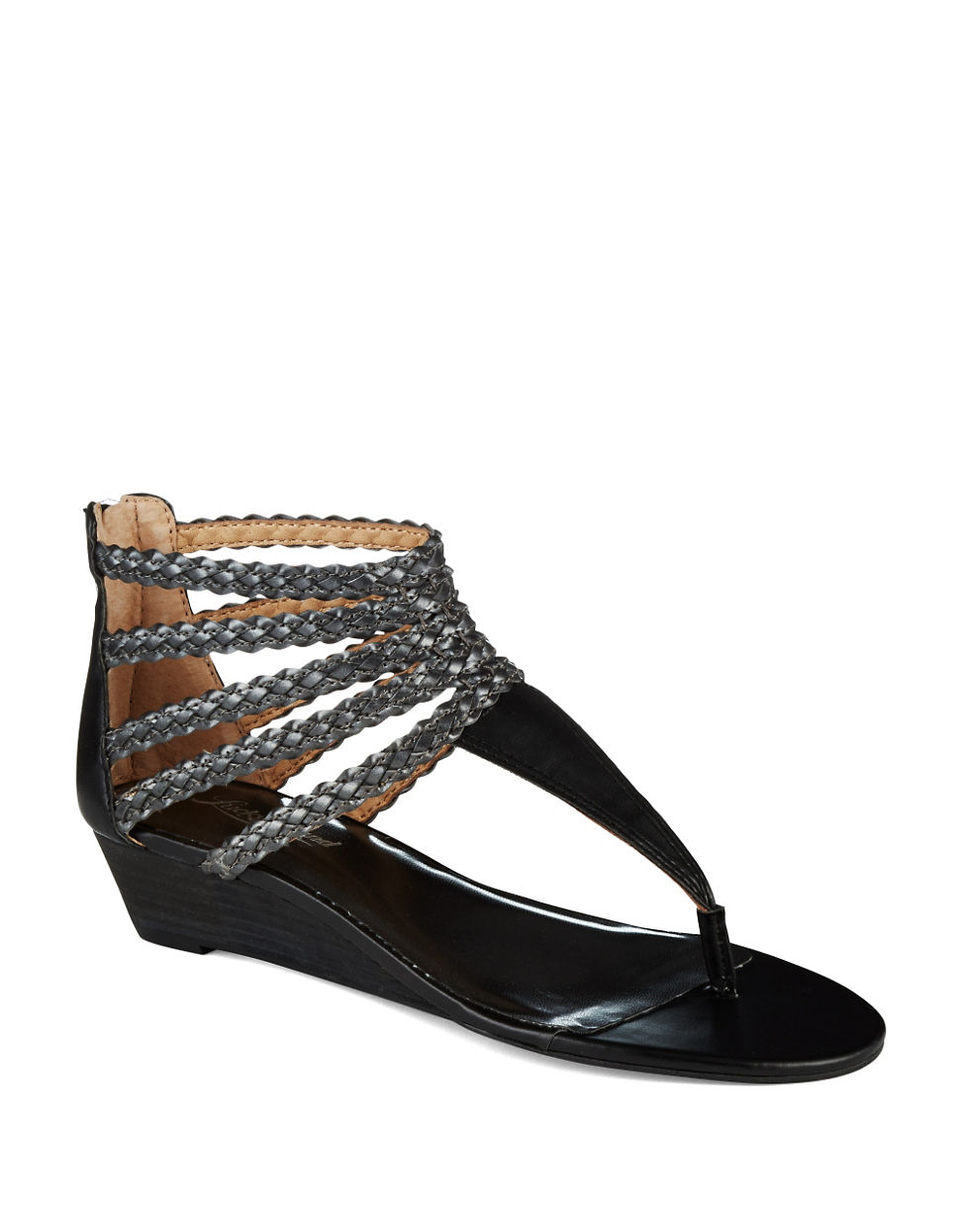 Lucky Brand Jenji Gladiator Sandals In Black | Lyst