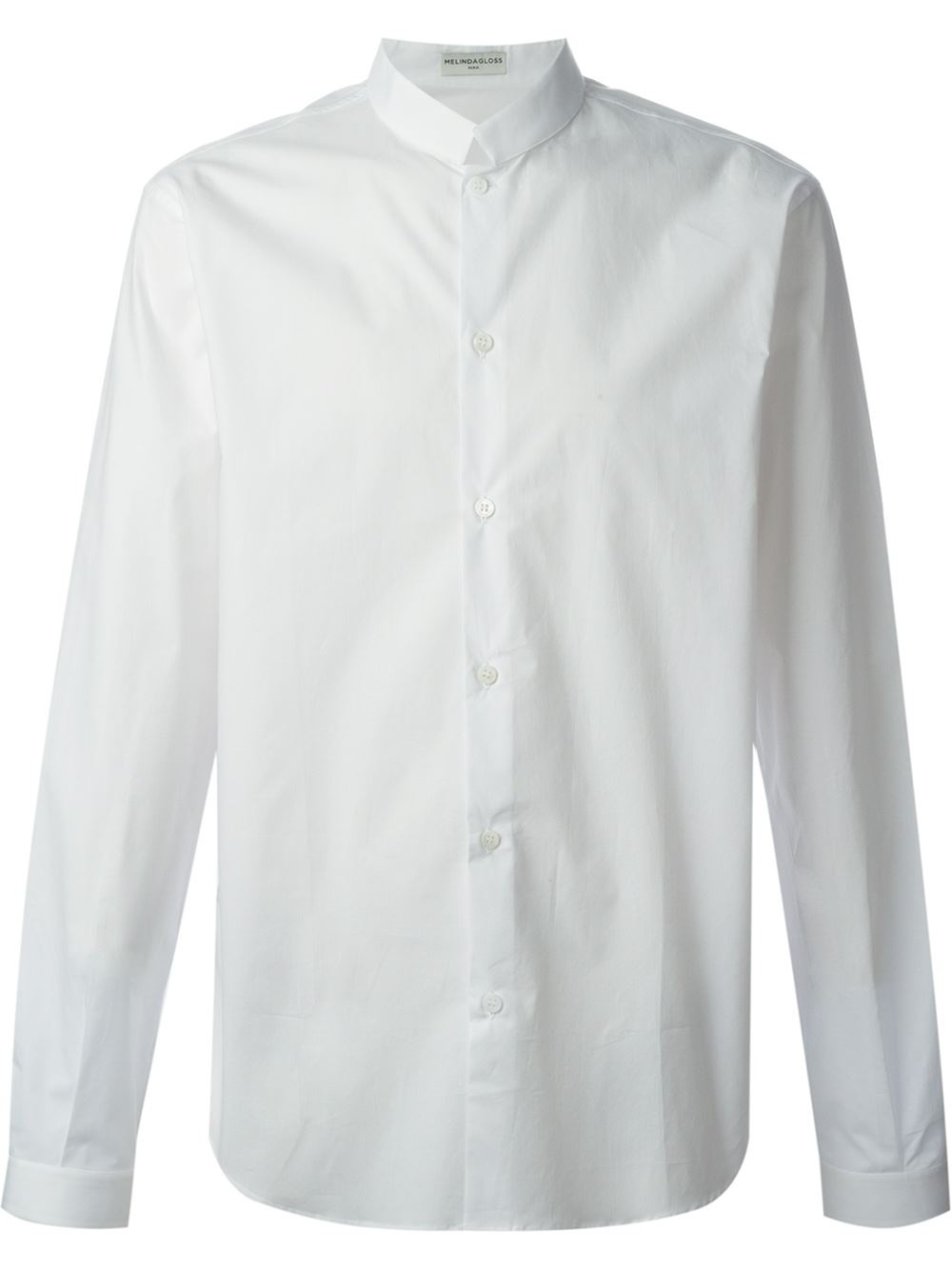 Stand Collar Shirts Designs : Melindagloss stand up collar shirt in white for men lyst