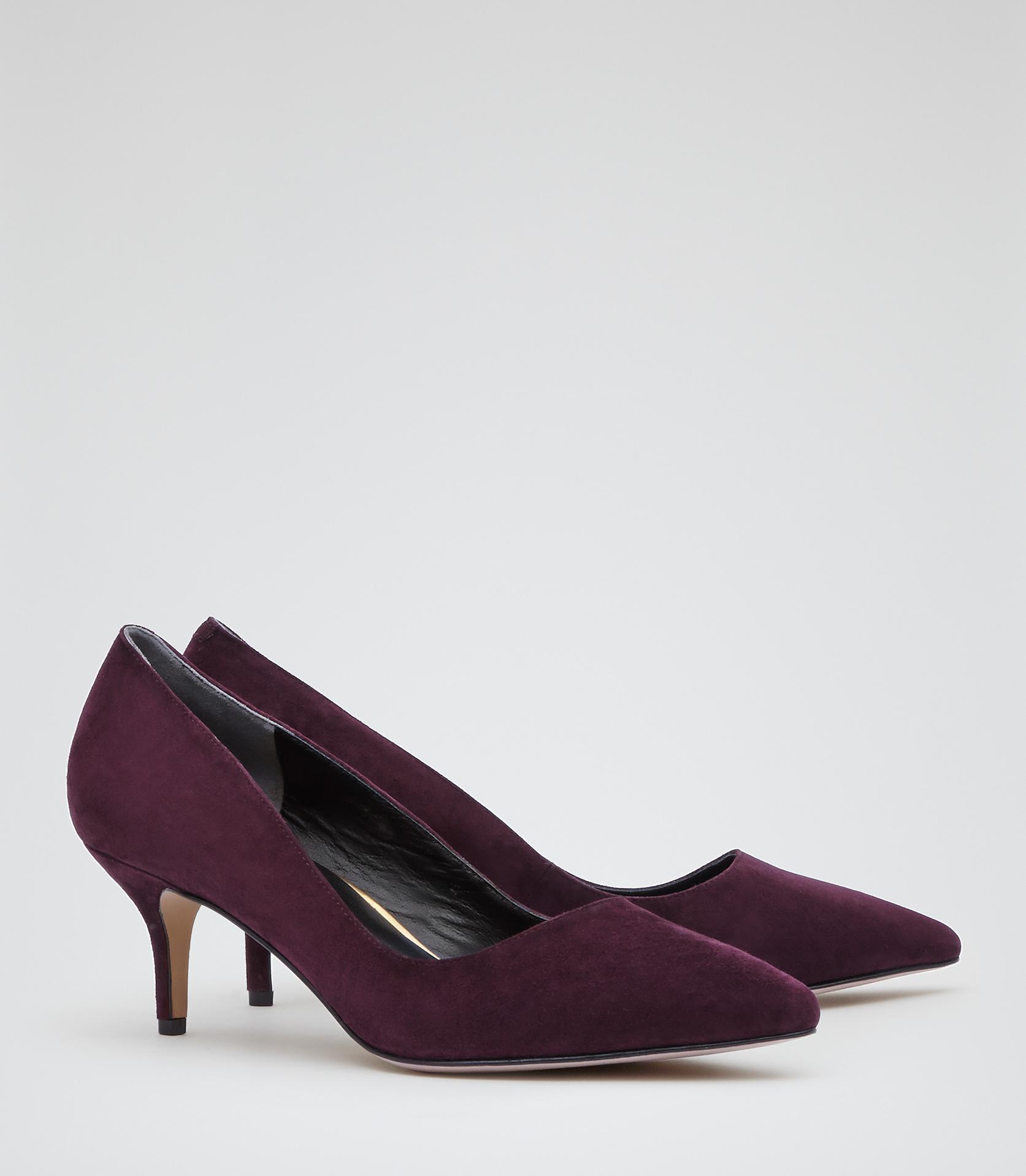 Purple Kitten Heel Shoes
