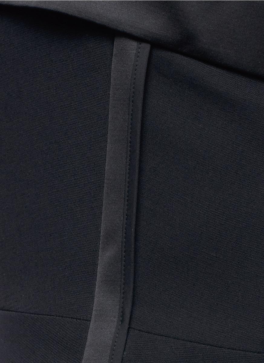 Lyst Victoria Beckham Polka Dot Mesh Panel Crepe Dress