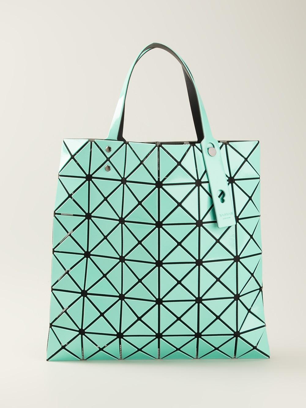 Lyst - Bao Bao Issey Miyake Geometric Panel Tote Bag in Blue 9c8e597d0da59