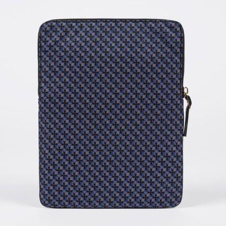 paul smith | blue 'basket geo' print ipad sleeve for men
