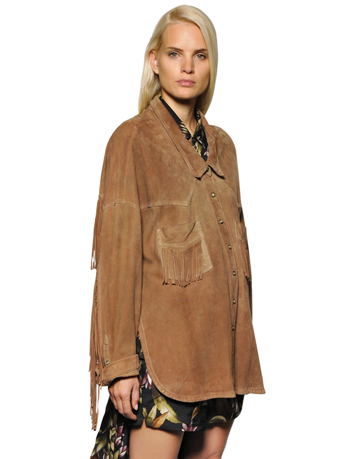 Nicekicks For Sale Faith Connexion fringe detail suede jacket Buy Cheap 100% Guaranteed D9n8a