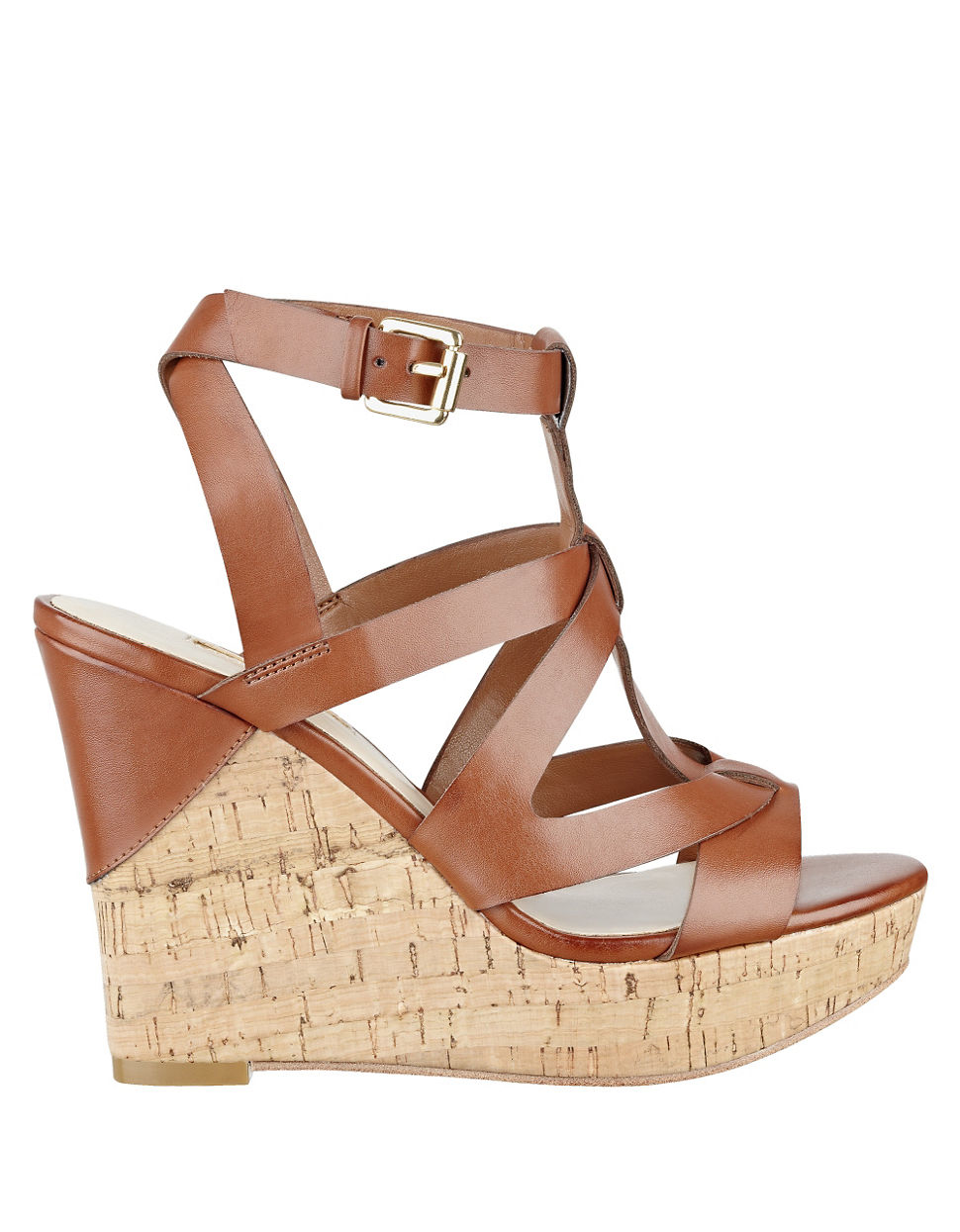 9b9c36da87 Guess Harlea Platform Wedge Sandals in Brown - Lyst