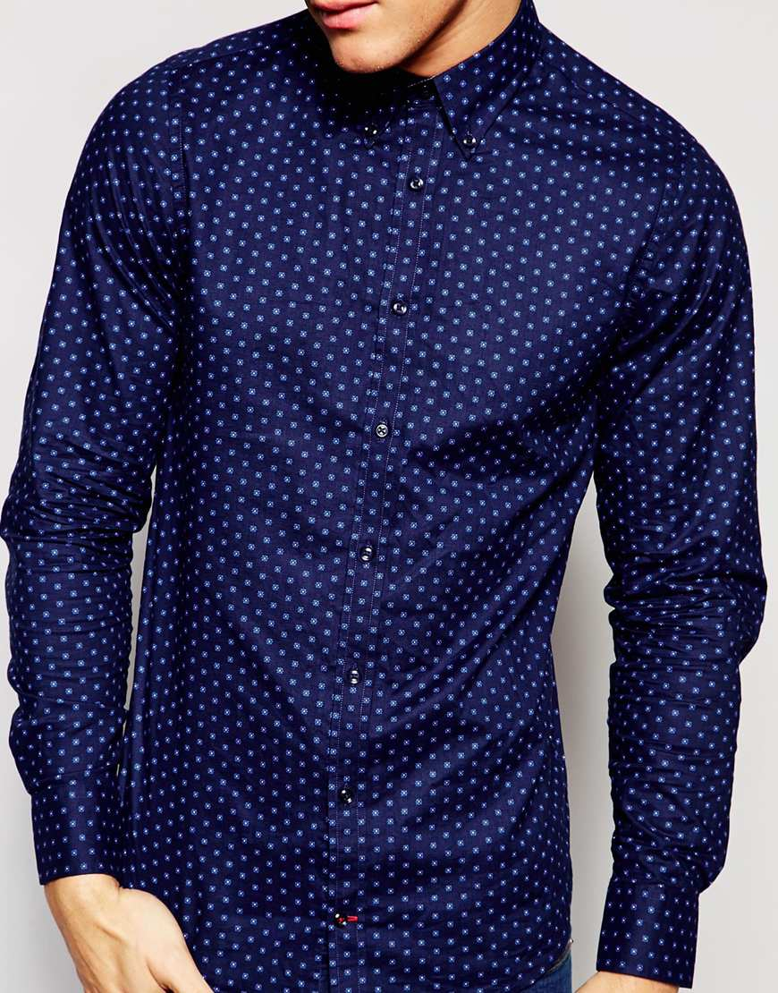 tommy hilfiger shirt in blue for men lyst. Black Bedroom Furniture Sets. Home Design Ideas