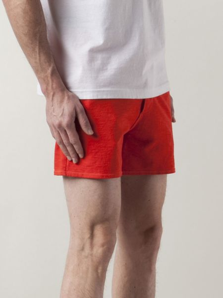 Dsquared 178 Terry Cloth Shorts In Red For Men Yellow