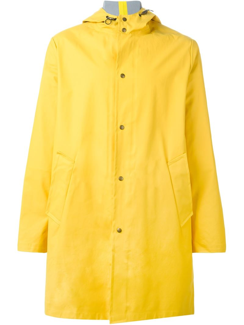 Ami Classic Hooded Raincoat in Yellow for Men | Lyst