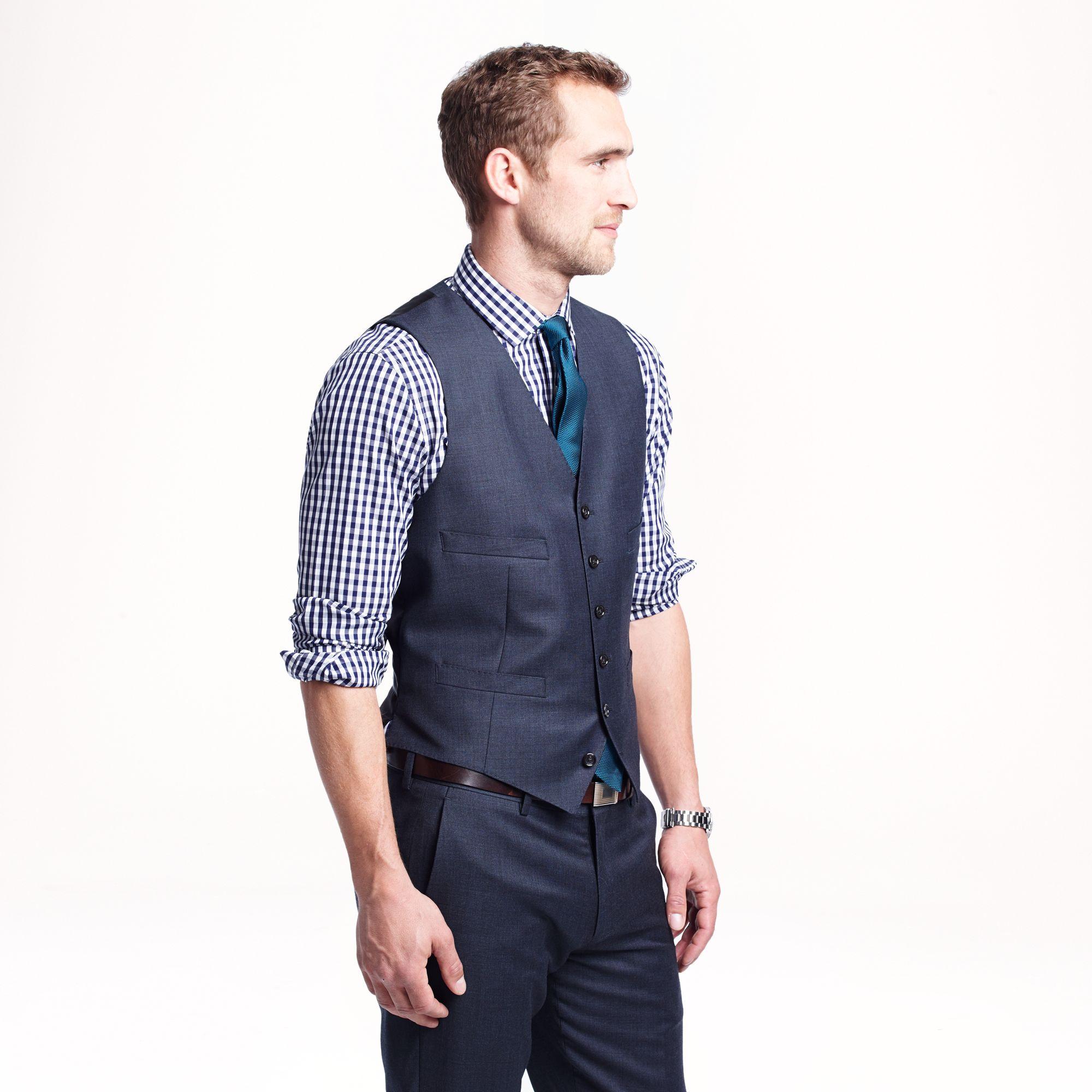 Men S Fashion Navy Vest