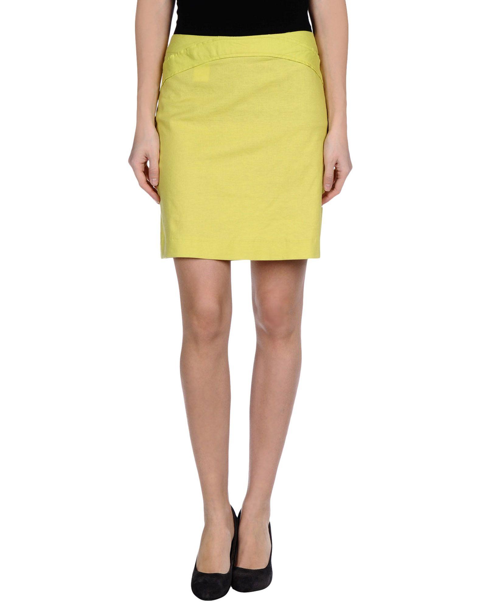 versace mini skirt in green lyst
