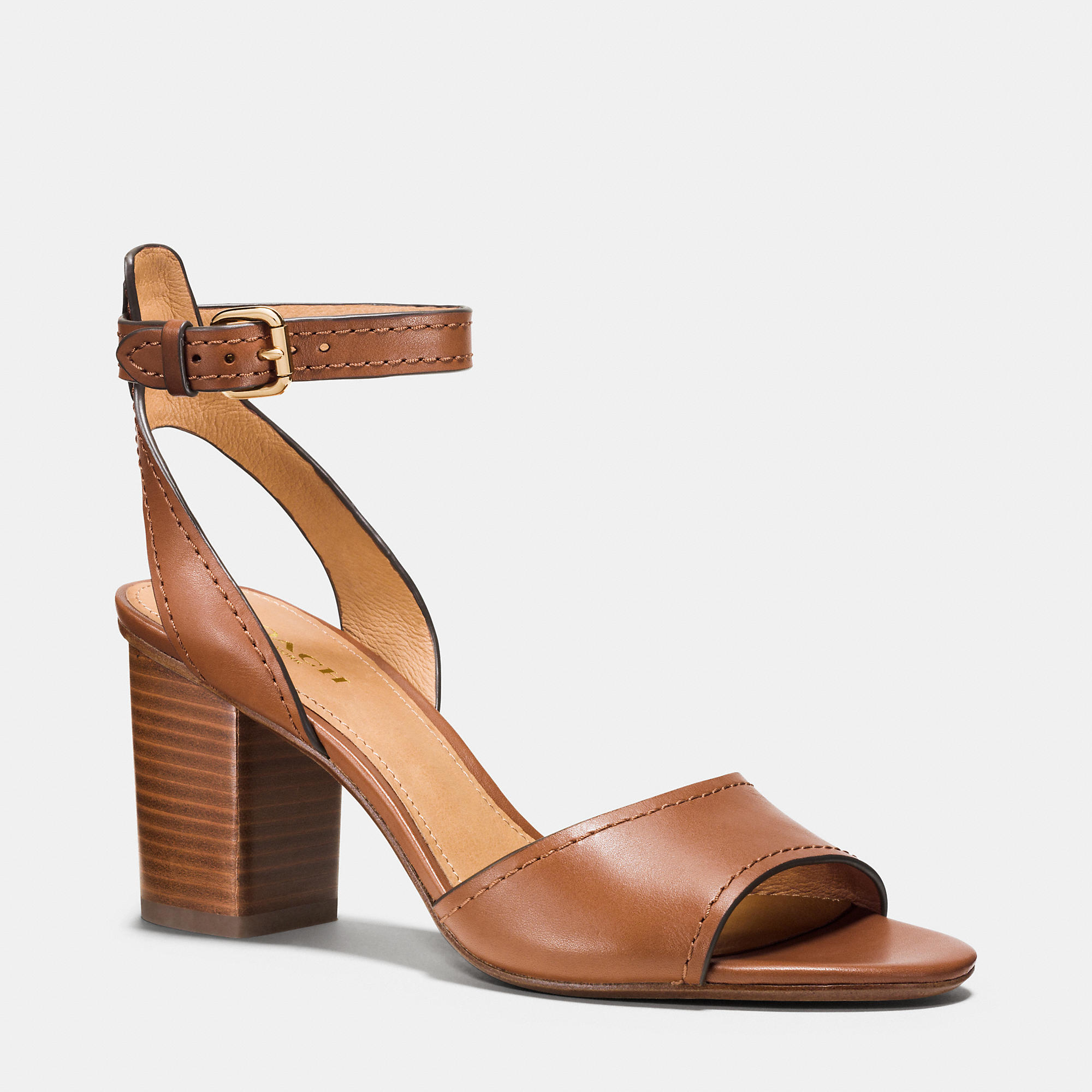Coach Pipher Heel in Brown | Lyst