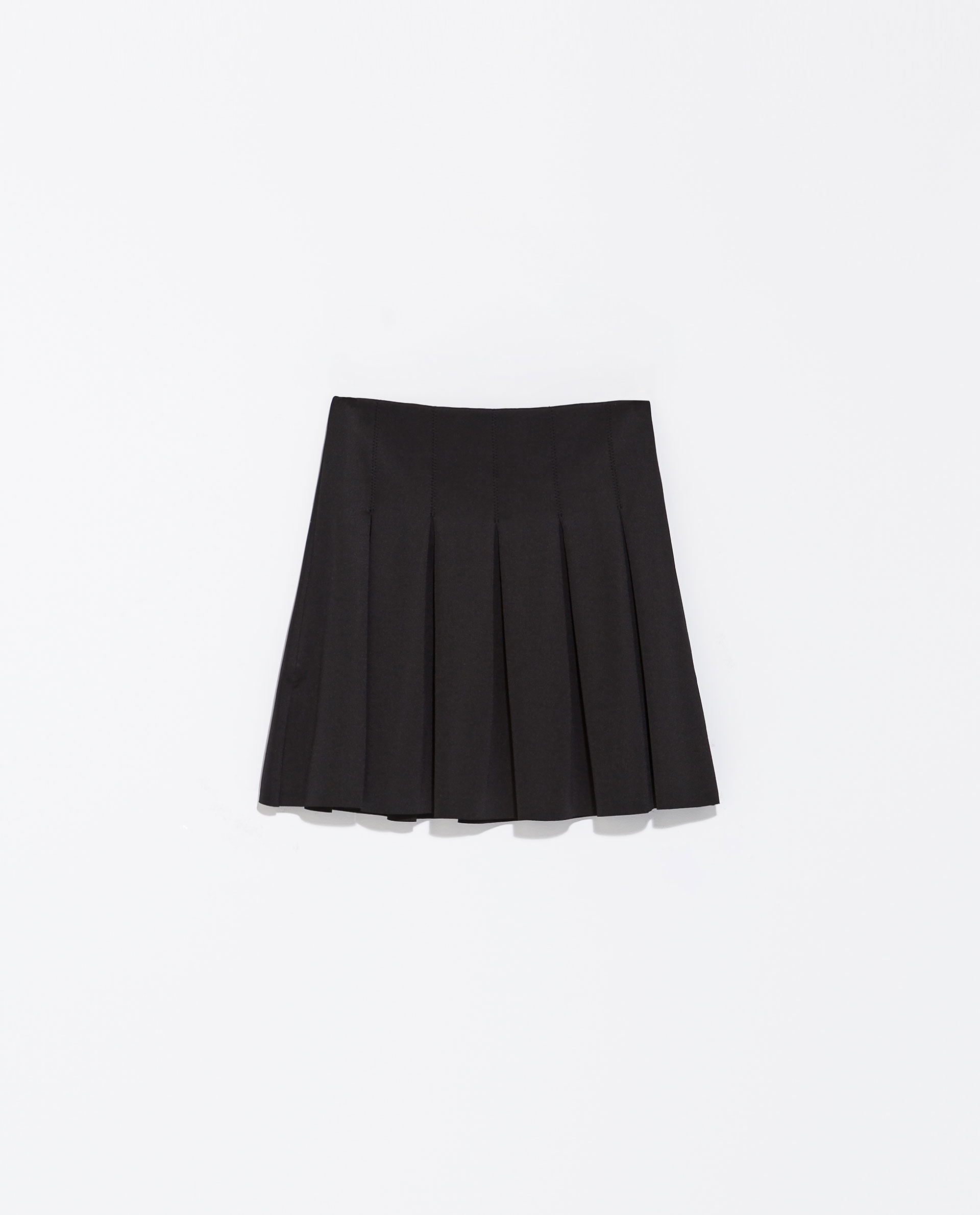 Zara Pleated Skirt in Black | Lyst
