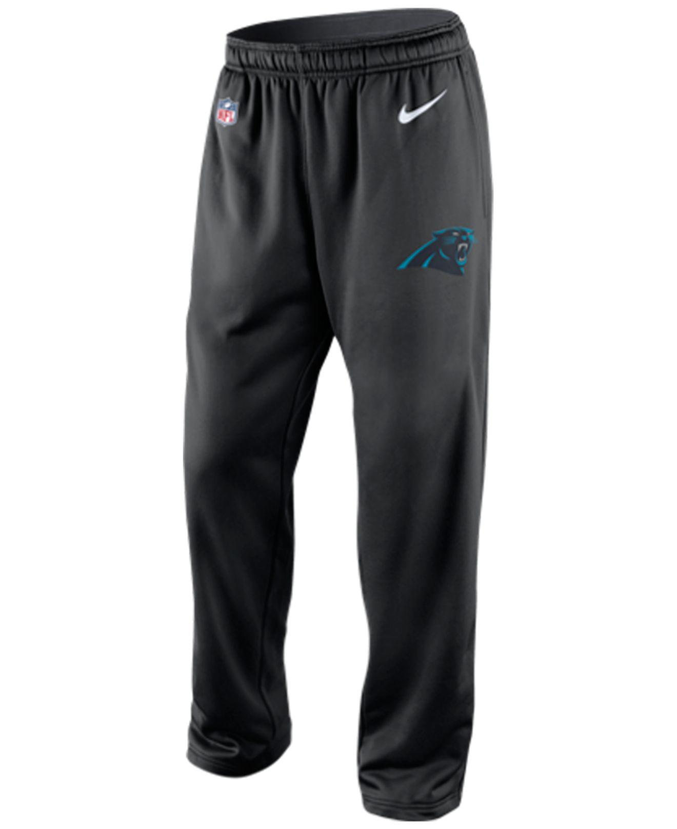 Nike Men's Carolina Panthers Ko Fleece Pants in Black for Men ...
