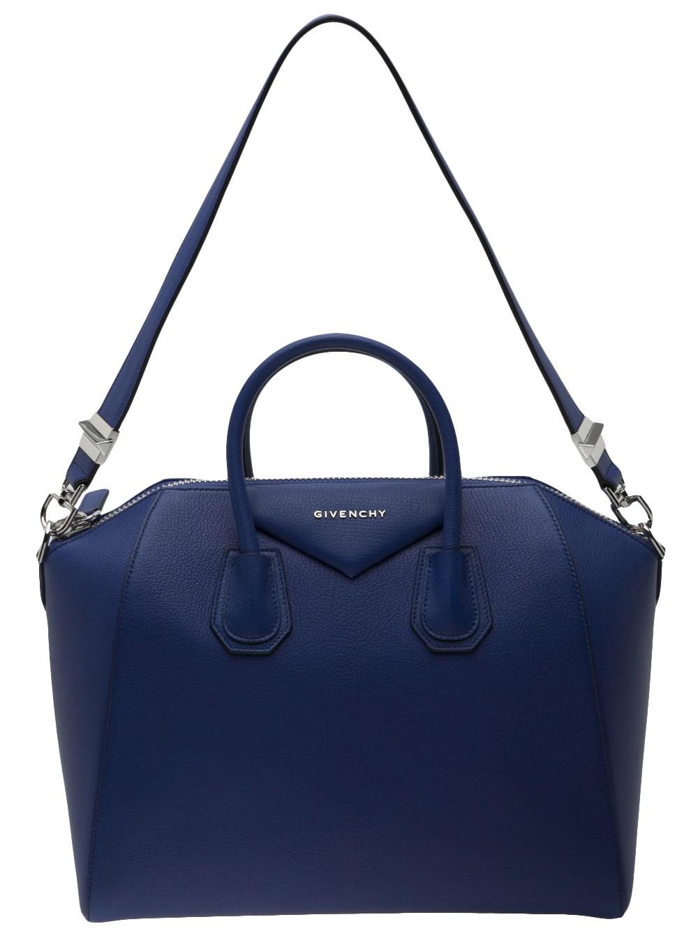 lyst givenchy antigona medium bag in blue. Black Bedroom Furniture Sets. Home Design Ideas