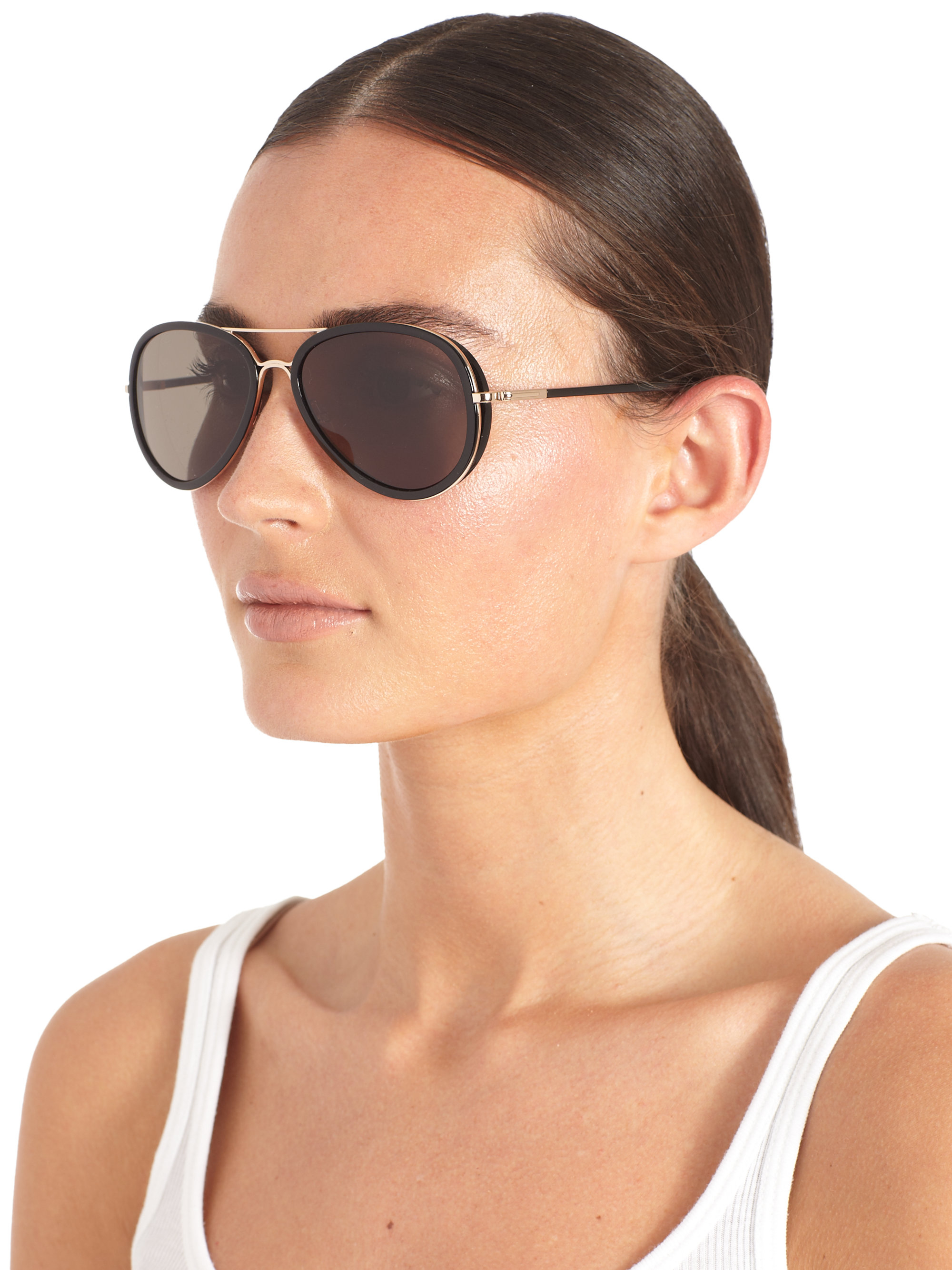 1f2daa25321 Tom Ford Catherine Aviator Sunglasses. Tom ford Metal   Acetate ...