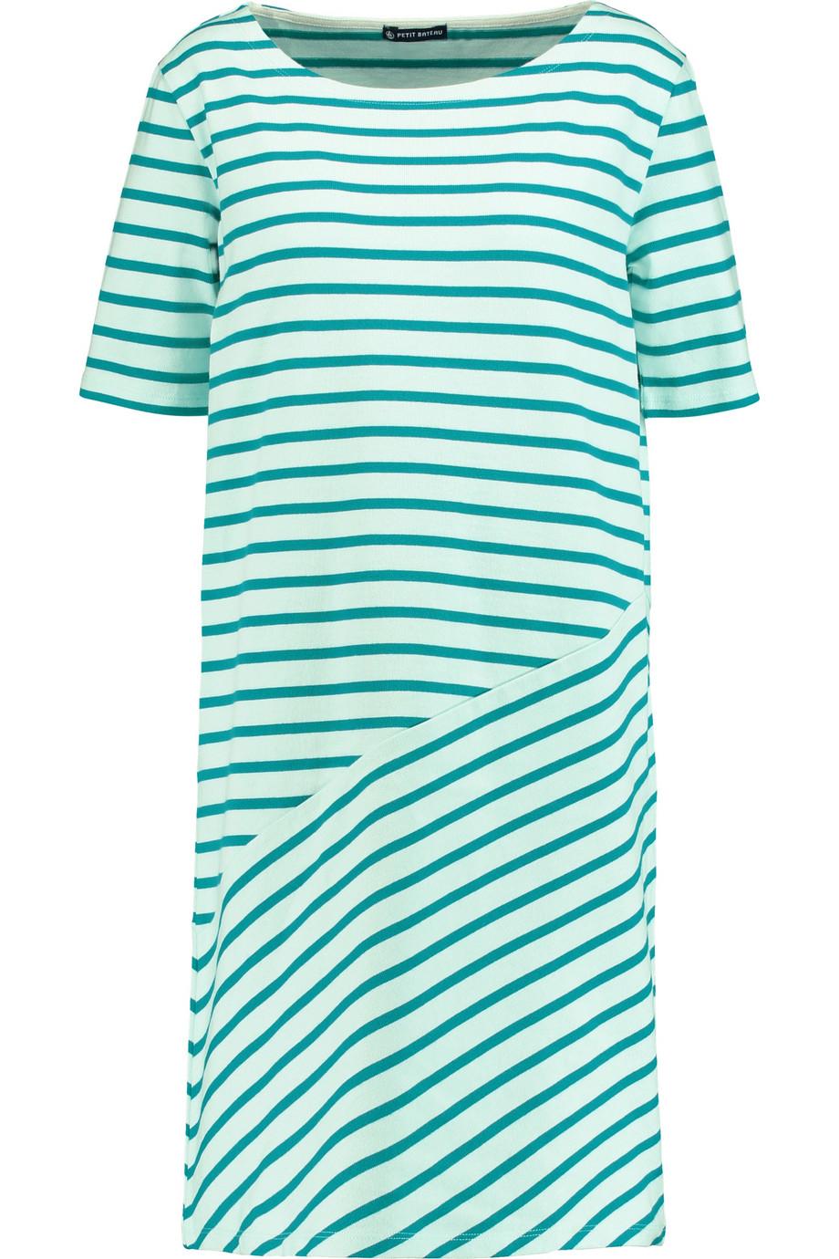 Petit bateau striped cotton dress in blue lyst for Petit bateau striped shirt
