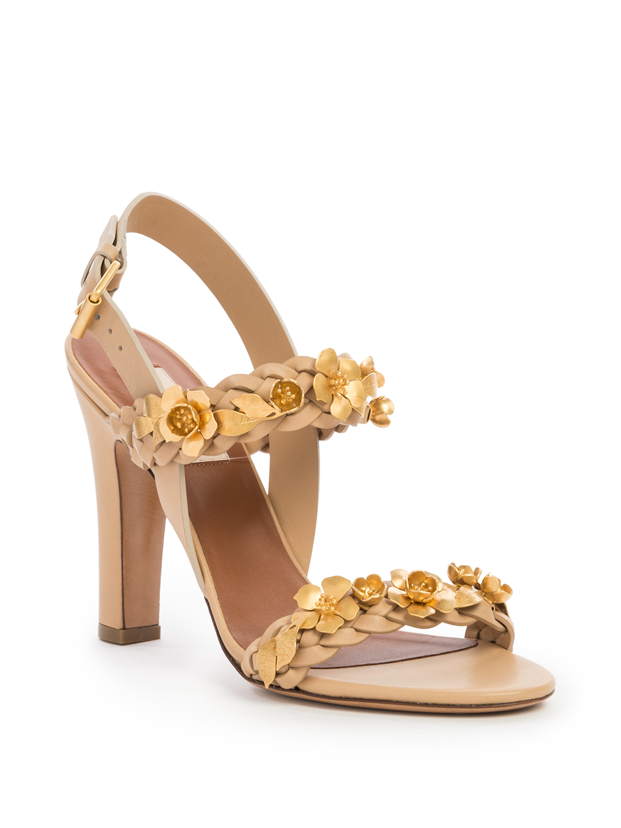 Valentino Leather Flower Sandals sale visit buy cheap choice discount big sale P9hh7Sj