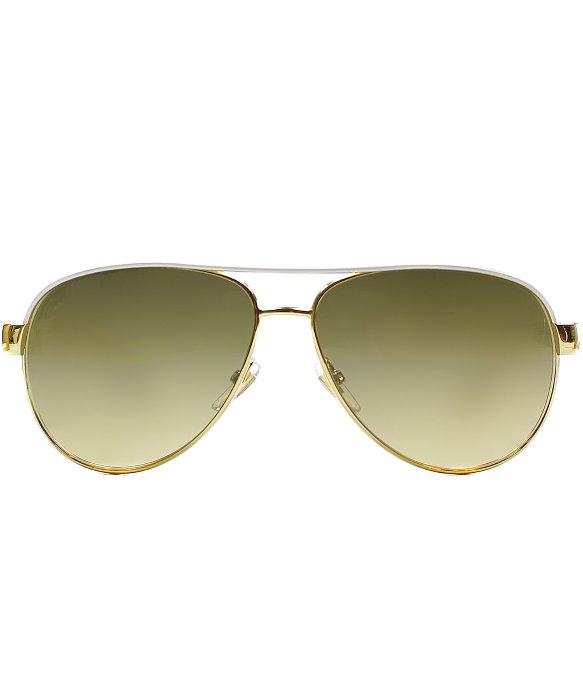 b6801c388f8 Gucci Gg 4239 Dzb Gold Ivory Glitter Aviator Sunglasses Brown ...