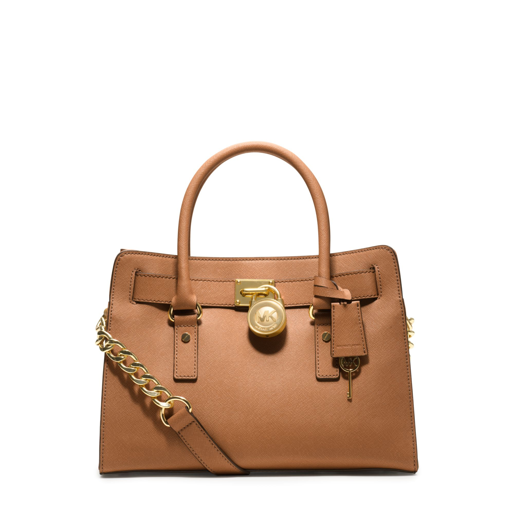 Michael Kors Hamilton Laukku : Michael kors hamilton saffiano leather medium satchel in