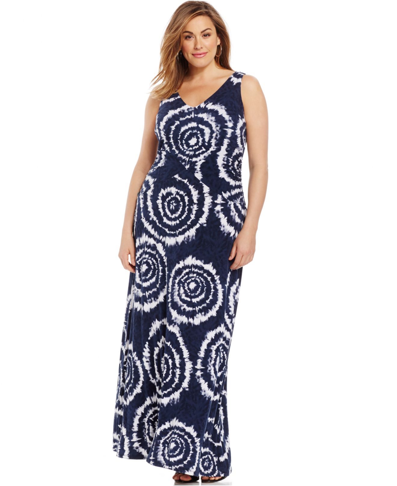 Inc international concepts Plus Size Tie-dyed Maxi Dress in Blue ...