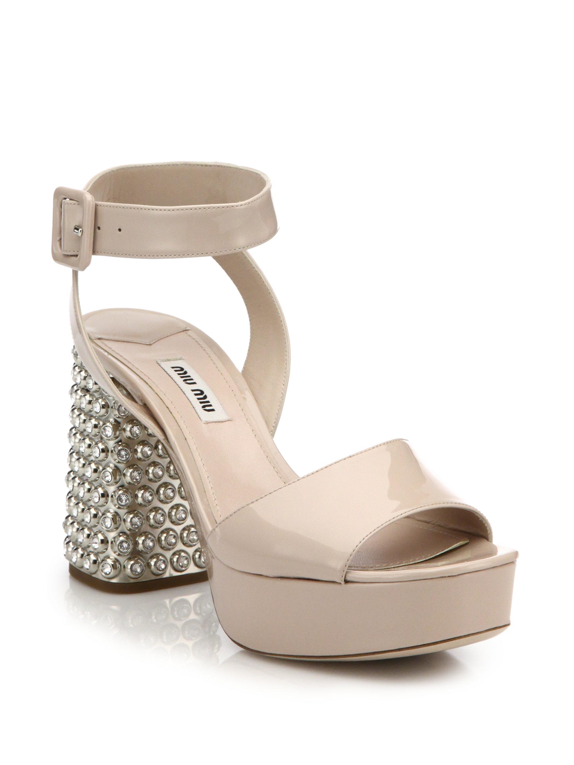 Miu Miu Shoes Crystal Heel