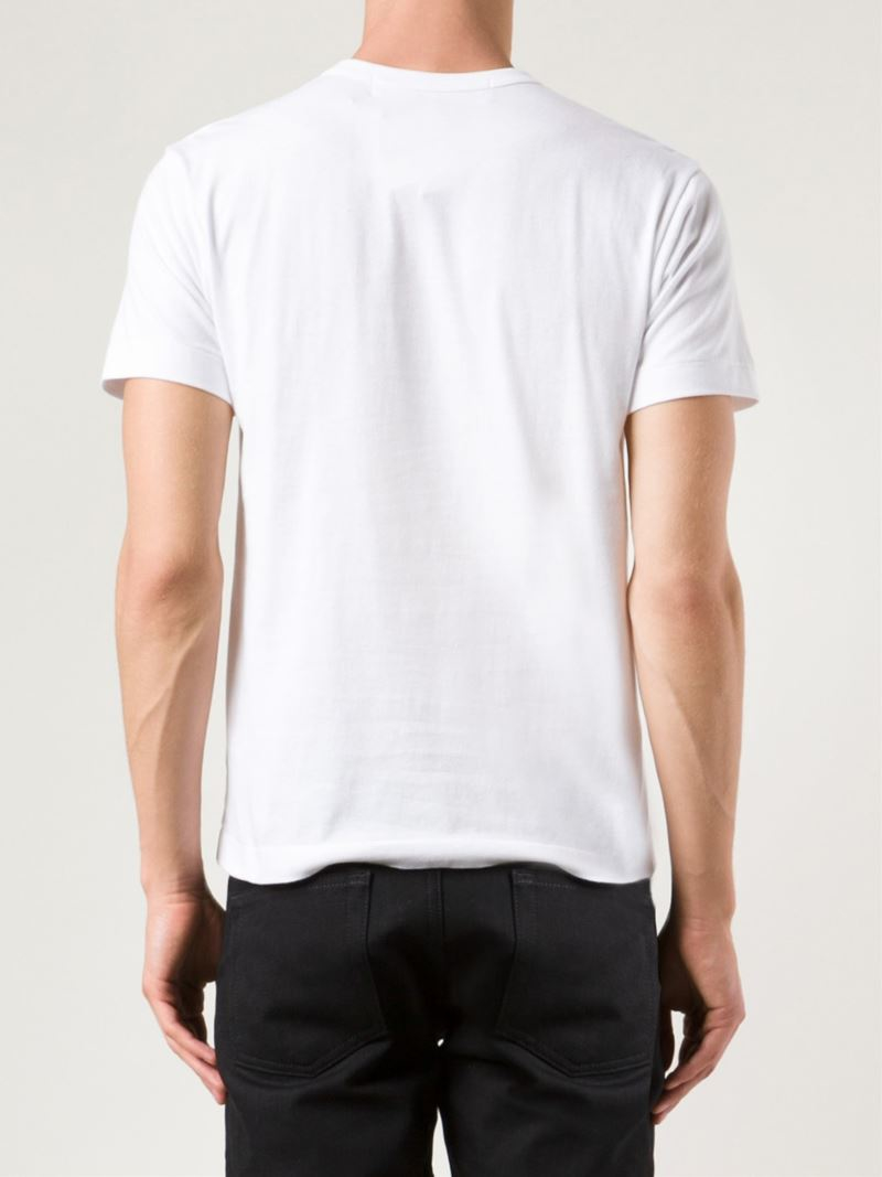 Play Comme Des Gar Ons Graphic T Shirt In White For Men Lyst
