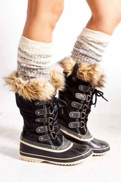lyst sorel joan of arctic boot in black. Black Bedroom Furniture Sets. Home Design Ideas
