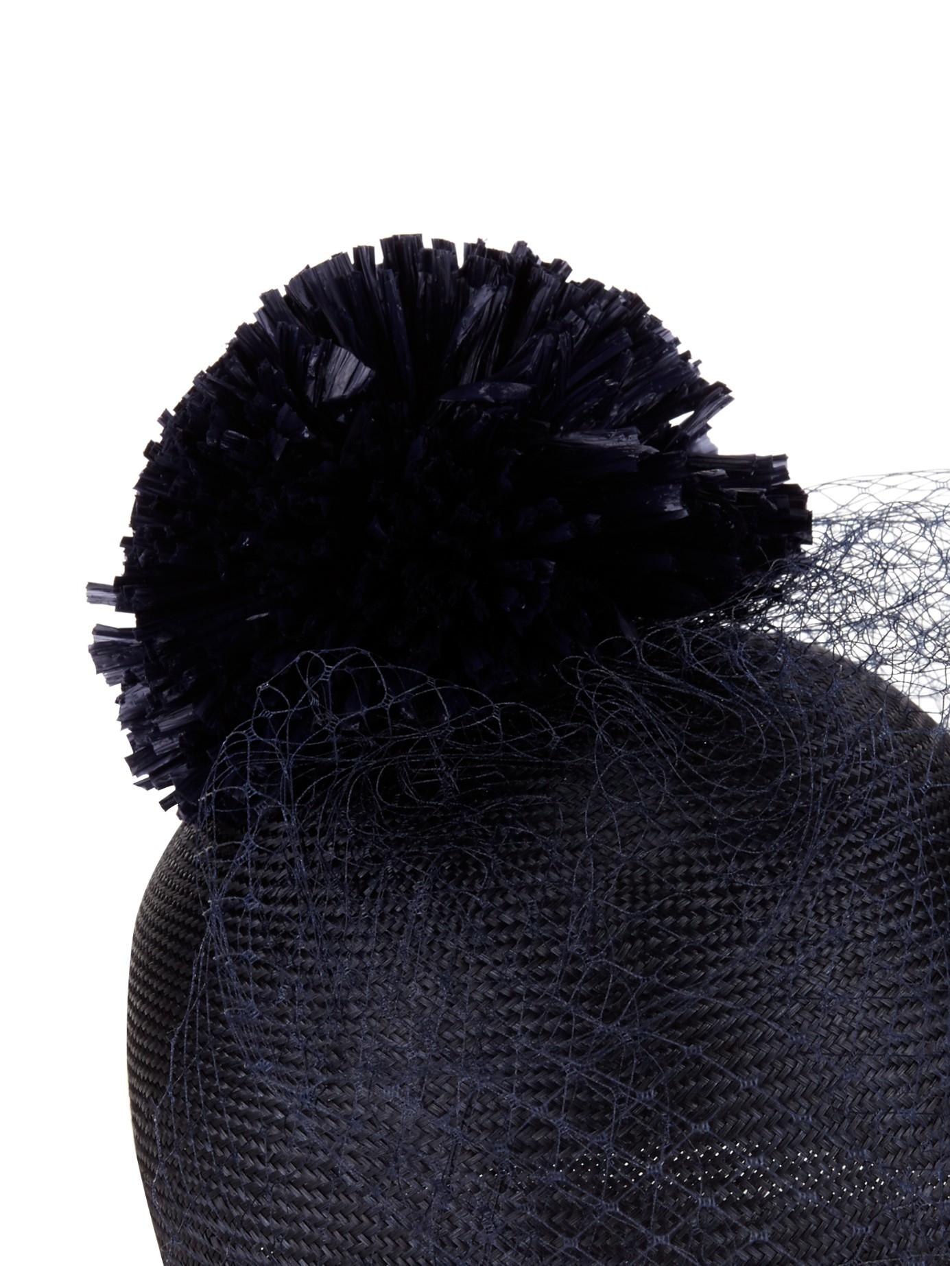 Lyst - Federica Moretti Cap in Black a02bbb355ad4
