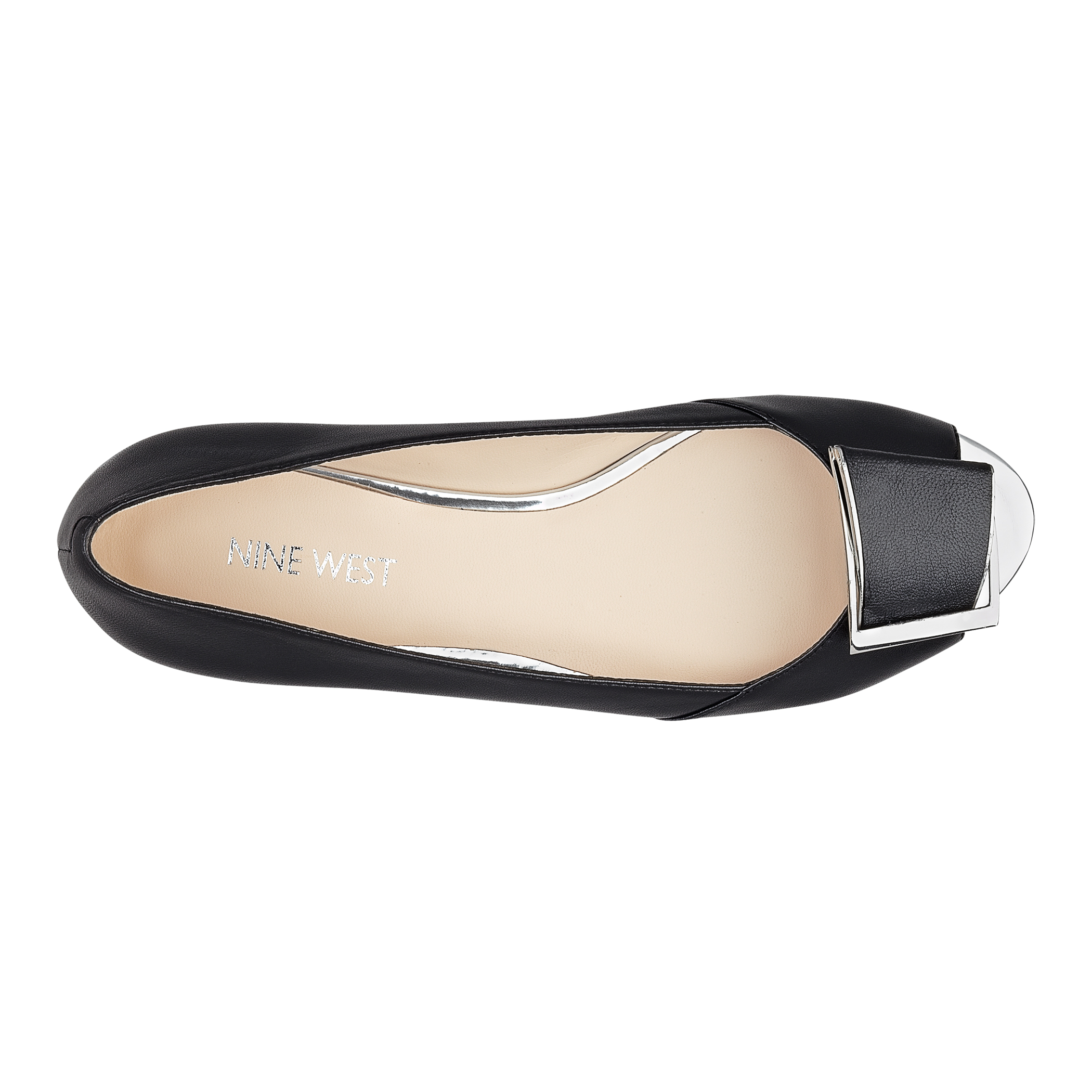 Nine West Baybrynne Peep Toe Flat In Black Lyst