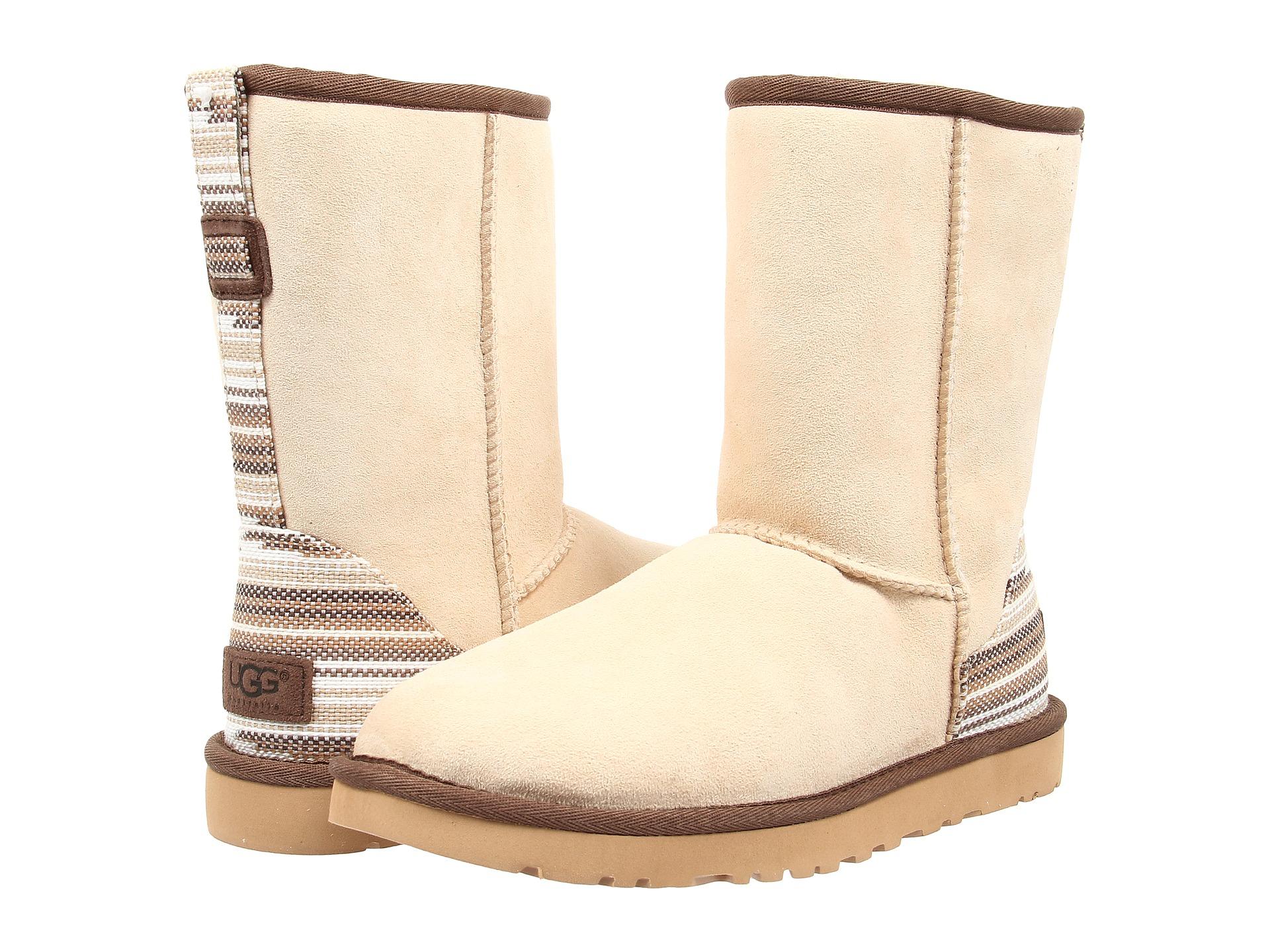 Womens Boots UGG Classic Short Serape Cream Twinface
