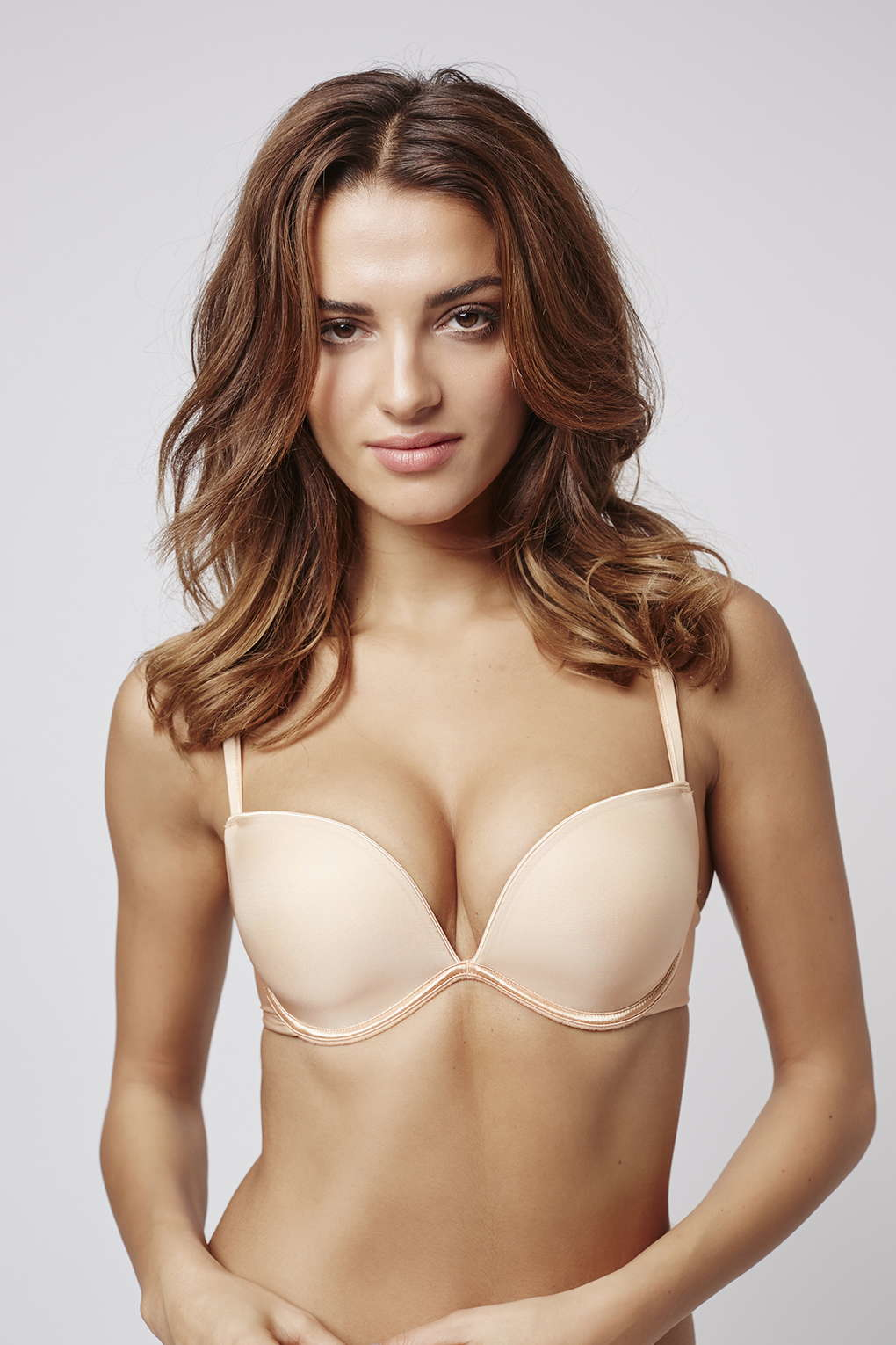 487f158cb TOPSHOP Wonderbra Full Effect Push-up Bra in Natural - Lyst