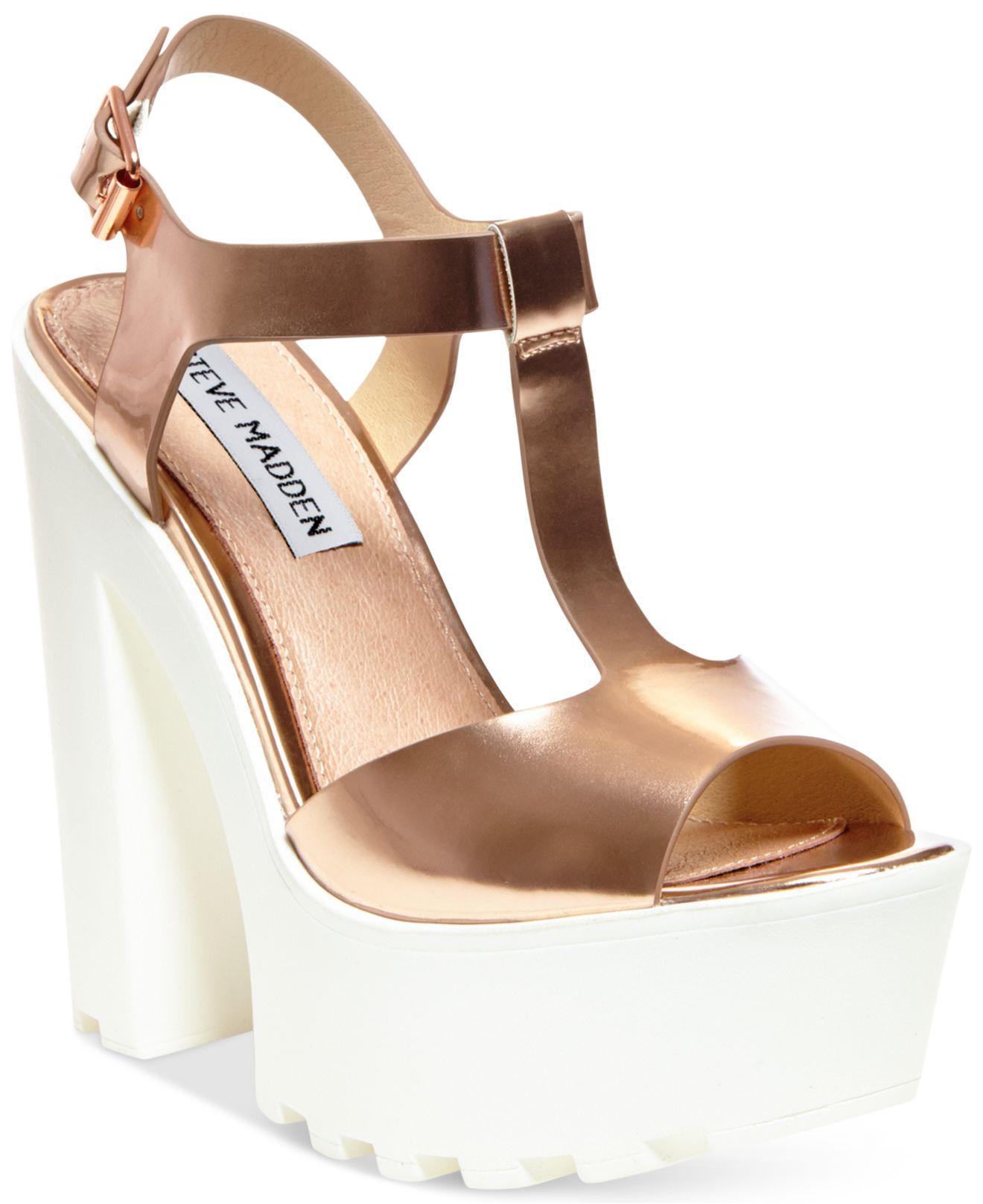 22a08c22b0c Lyst - Steve Madden Girltalk Platform Wedge Sandals in Pink